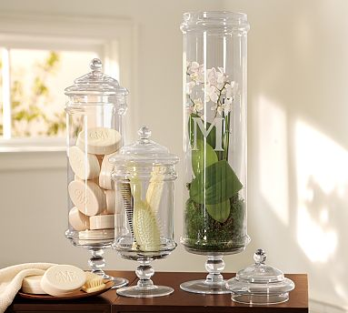 Dollar tree apothecary jar the steen style for Bathroom decor vases