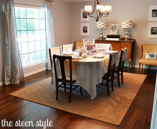 Dining Table Area Rug Size For Dining Table