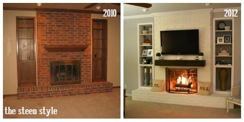I guess the real title of this post should be Fireplace Update but since our living room is focused around our fireplace