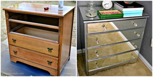 diy mirrored furniture. diy mirrored nightstand11 diy furniture