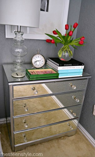 DIY Mirror Nightstand7