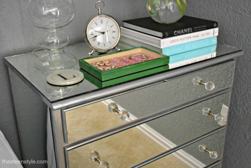 DIY: Mirrored Nightstand | The Steen Style