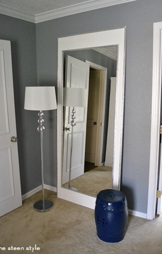DIY: Oversize Floor Mirror | The Steen Style