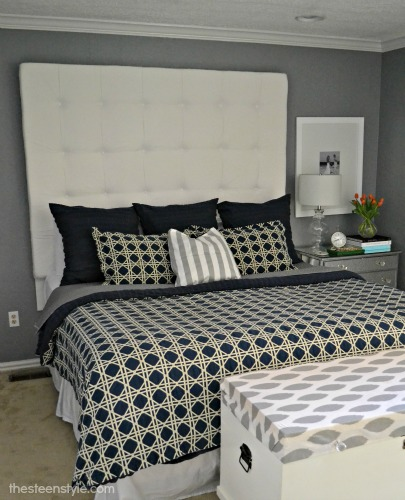 diy tufted queen size headboard 3
