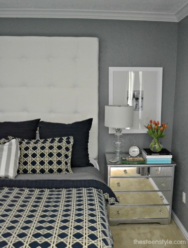 diy tall tufted headboard the steen style. Black Bedroom Furniture Sets. Home Design Ideas