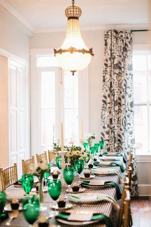 Pinterest Image - Emerald Tablescape