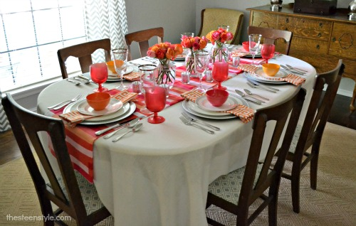 Orange and Pink Tablescape1