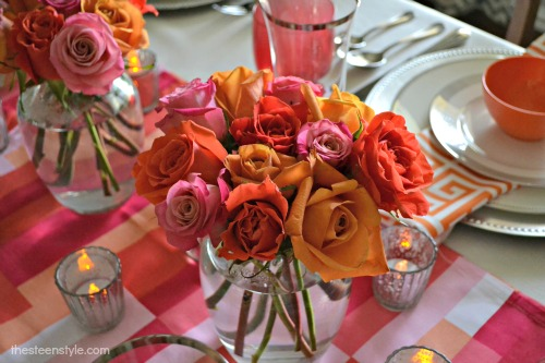 Orange and Pink Tablescape2