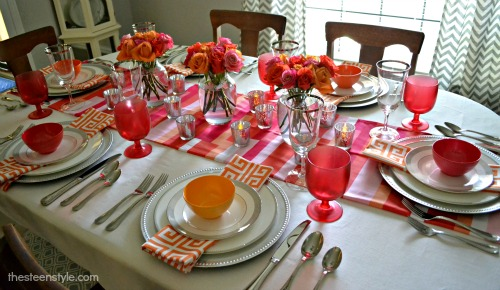 Orange And Pink Tablescape The Steen Style