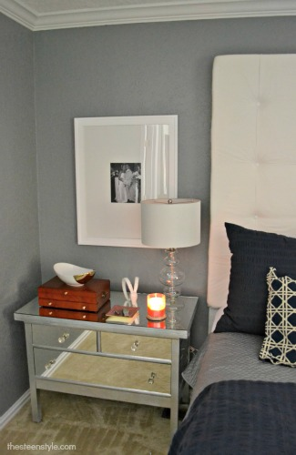 Diy Mirrored Nightstand Part 2 The Steen Style